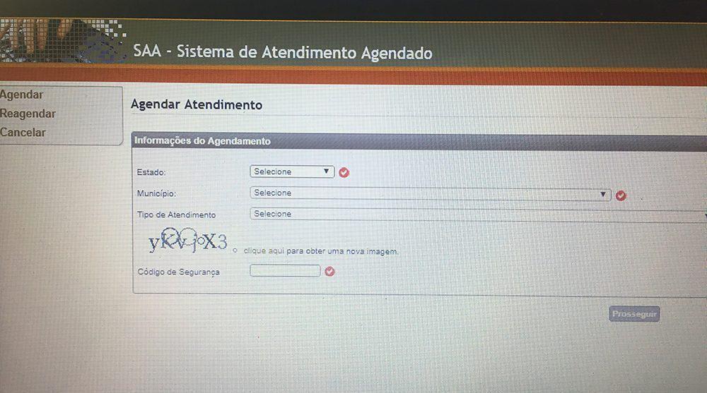 como fazer seu Agendamento no saa.mte.gov.br
