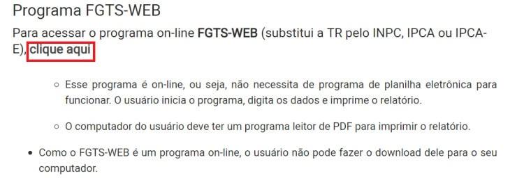 correção FGTS